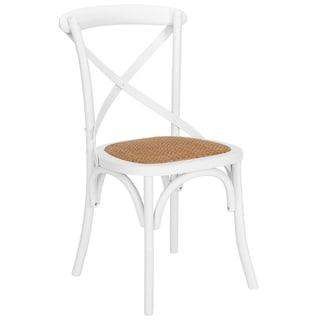 Poly And Bark Cafton Birch and Rattan Crossback Chair