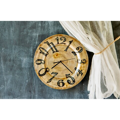 Handmade Clock Pearl With Black Numbers