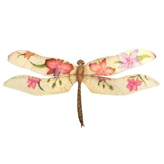 Handmade Purple and Red Floral Dragonfly (Philippines)