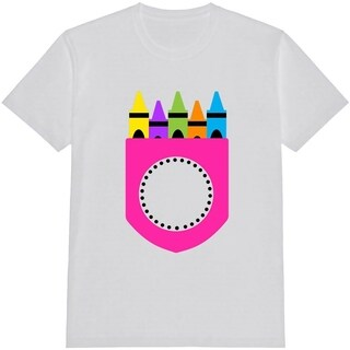 Crayon Pocket Kid's Funny White T Shirt with Saying