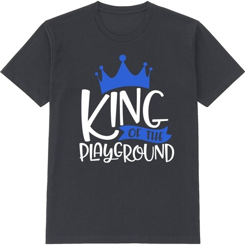 King Of The Playground Kid's Cute Black T Shirt with Saying