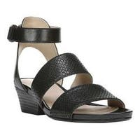 Women's Naturalizer Gracelyn Ankle Strap Sandal Black Leather