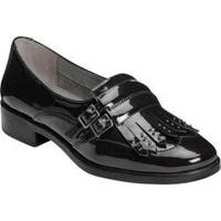 Women's A2 by Aerosoles Ravishing Kiltie Loafer Black Patent