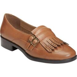 Women's A2 by Aerosoles Ravishing Kiltie Loafer Dark Tan Faux Patent Leather