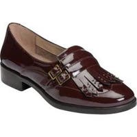 Women's A2 by Aerosoles Ravishing Kiltie Loafer Wine Patent