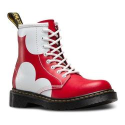 Children's Dr. Martens Delaney 8 Eye Side Zip Boot - Junior Red T Lamper