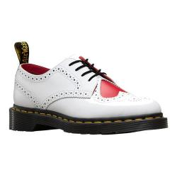 Women's Dr. Martens Joyce English Brogue White/Heart Red Venice/Smooth