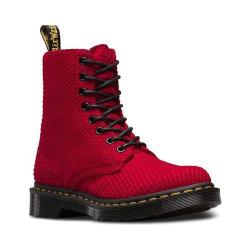 Women's Dr. Martens Page 8 Eye Boot Dark Red Waffle Cotton