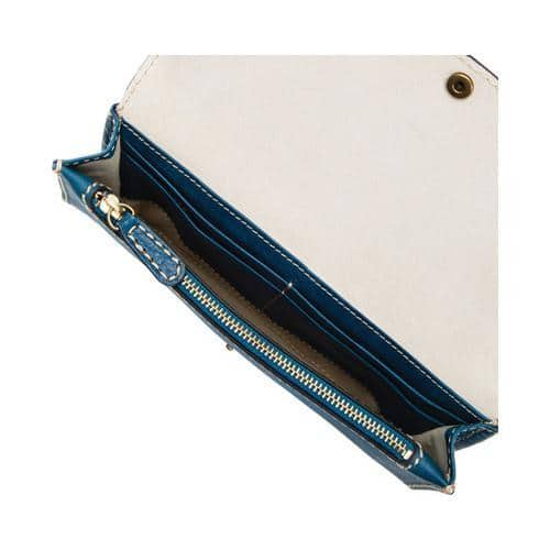 847b76dfec Shop Women s Frye Adeline Wallet Crossbody Blue Multi Leather - Free ...