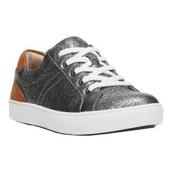 Women's Naturalizer Morrison Sneaker Silver Metallic Crackle Leather