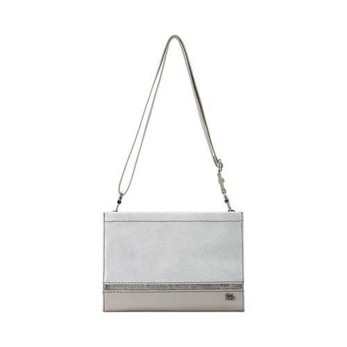 Women X27 S The Sak Iris Demi Clutch Silver Sparkle Leather