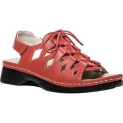 Women's Propet Ghillie Walker Slingback Sandal Coral Full Grain Leather
