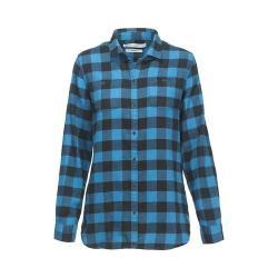 Women's Woolrich Buffalo Check Boyfriend Shirt French Blue Check Plus