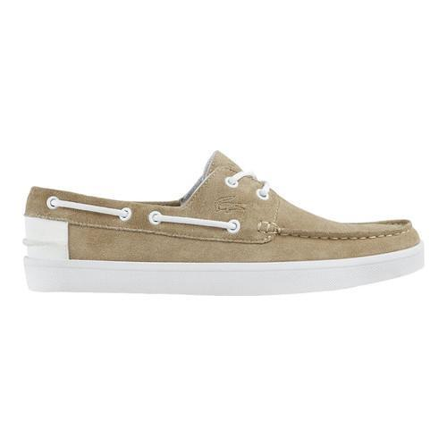 92c08085560a Shop Men s Lacoste Keellson 117 1 Boat Shoe Natural Suede - Free Shipping  Today - Overstock.com - 16617575