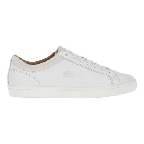 f37a1ad5f Shop Men s Lacoste Straightset CRF 2 Sneaker Off White Leather Suede - Free  Shipping Today - Overstock - 16617607