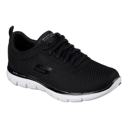 Direct from Germany Skechers Womens sport shoes Flex appeal 2.0 soft shock black lined