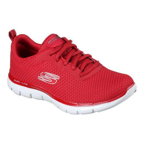 fdeb0139f73c Shop Women s Skechers Flex Appeal 2.0 Newsmaker Training Sneaker Red - Free  Shipping Today - Overstock - 16617677