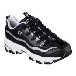 Women's Skechers D'Lites Now and Then Sneaker Black/Silver