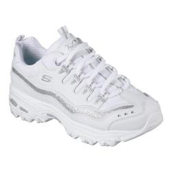 Women's Skechers D'Lites Now and Then Sneaker White/Silver