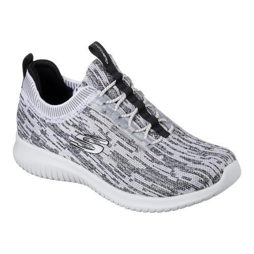 389419a95732 Shop Women s Skechers Ultra Flex Bright Horizon Bungee Lace Sneaker White  Black - Free Shipping Today - Overstock - 16617717