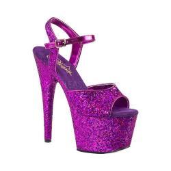 Women's Pleaser Adore 710LG Ankle-Strap Sandal Purple Hologram Glitter/Purple Hologram Glitter