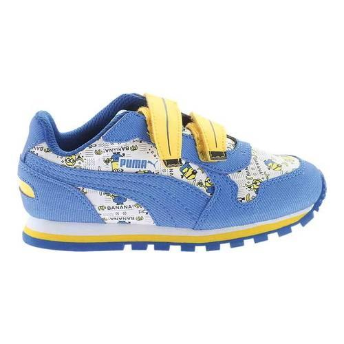1881b1d3efe075 Shop Children s PUMA Minions ST Runner V Sneaker Puma White Lapis Blue Minion  Yellow - Free Shipping On Orders Over  45 - Overstock - 16637738