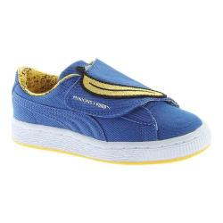 Children's PUMA Minions Basket Wrap Statement Sneaker Lapis Blue/Lapis Blue/Minion Yellow Denim