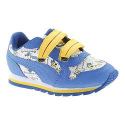 Children's PUMA Minions ST Runner V Sneaker Puma White/Lapis Blue/Minion Yellow