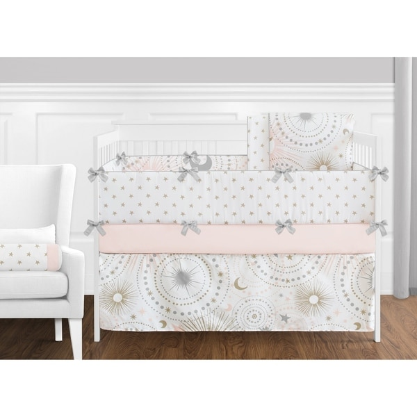 Ups Free New 4 Pcs Stars Baby Bedding Set Baby Bed Linen Comforter Quilt Sheet Bumper Included Baby Bedding