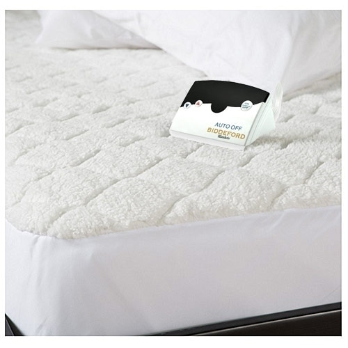 biddeford quilted sherpa electric heated mattress pad twin white