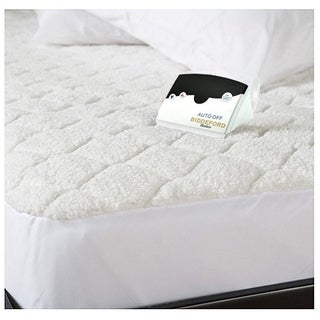 Biddeford 5303-9051128-100 Quilted Sherpa Electric Heated Mattress Pad King - White