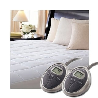 Sunbeam SelectTouch Premium Quilted Electric Heated Mattress Pad - Queen Size - White. Opens flyout.