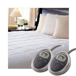 Sunbeam SelectTouch Premium Quilted Electric Heated Mattress Pad - Cal King Size - White