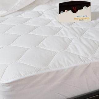 biddeford quilted electric heated mattress pad king white