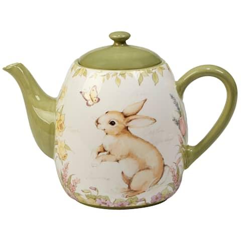 Certified International Bunny Patch 40-ounce Teapot
