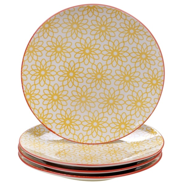 Chelsea Mix and Match Daisy Dots 8.5-inch Dessert Plates (Set of 4)  sc 1 st  Overstock.com & Chelsea Mix and Match Daisy Dots 8.5-inch Dessert Plates (Set of 4 ...