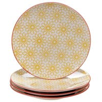 Chelsea Mix and Match Daisy Dots 8.5-inch Dessert Plates (Set of 4)