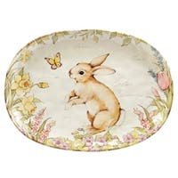 Certified International Bunny Patch Oval Platter