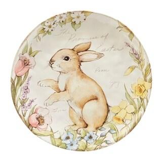 Certified International Bunny Patch 13-inch Round Platter