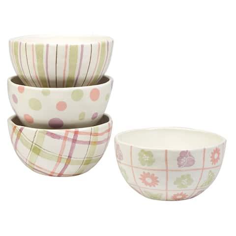 Certified International Bunny Patch 6-inch Ice Cream Bowls, Set of 4