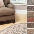 Pine Canopy Coconino Braided Textured Round Area Rug (5' x 5')
