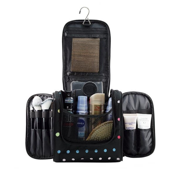 a988175ae7bc Hanging Makeup Cosmetic Bag, Large Portable Travel Toiletry Organizer Bag