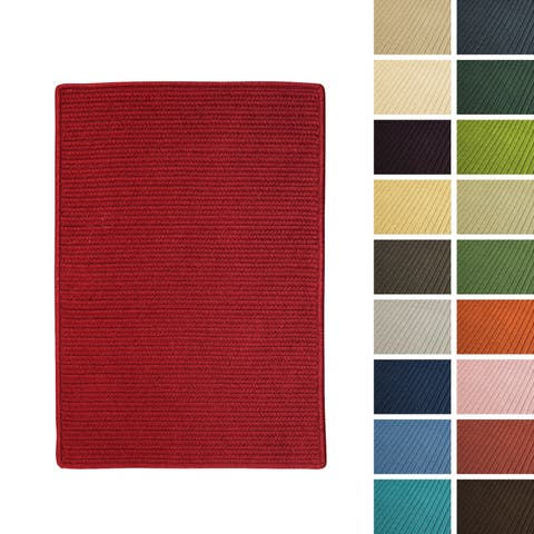 Porch & Den Oakland Solid-colored Braided Reversible Indoor/ Outdoor Area Rug