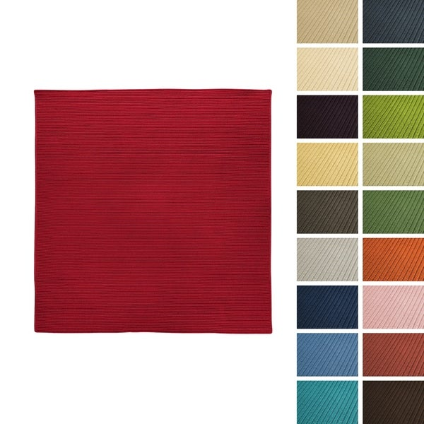 Havenside Home Rodanthe Square Reversible Indoor/ Outdoor Braided American-made Area Rug (11' x 11')