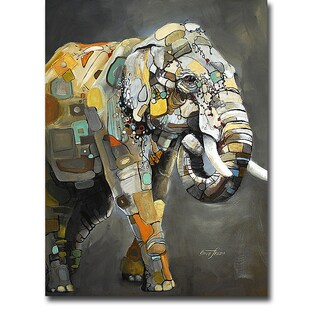 Asian Elephant by Britt Freda Gallery-Wrapped Canvas Giclee Art
