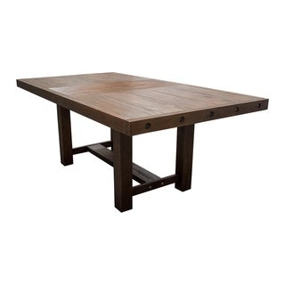 Best Master Furniture Walnut-finished Wood/Veneer Casual Dining Table with Extension