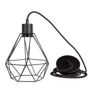 South Shore Plog-it Black Hanging lamp with geometric shade