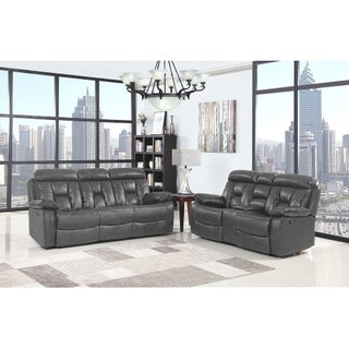 Lockhart Leather Air Upholstered 2 Piece Living Room Sofa Set