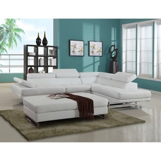 GU Furniture Oleander Faux Leather Upholstered Living Room Sectional