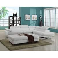 GU Furniture Oleander Leather Air Upholstered Living Room Sectional